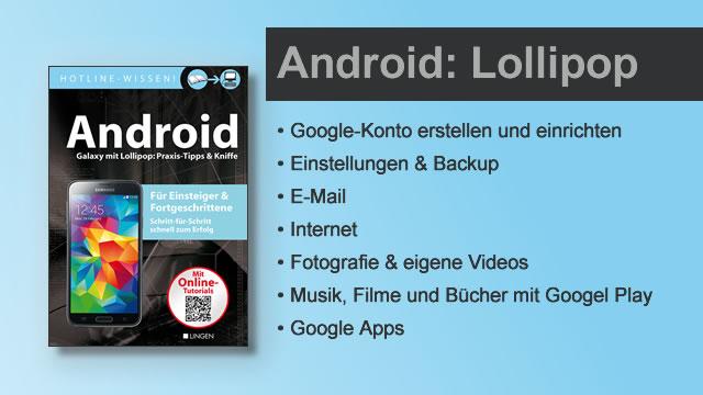 Buchvorstellung Hotline-Wissen Android: Lollipop