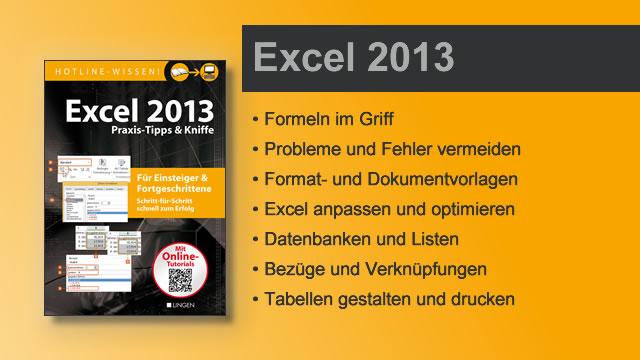 Buchvorstellung Hotline-Wissen Excel 2013