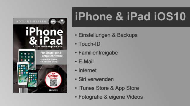 Buchvorstellung Hotline-Wissen iPhone & iPad mit iOS 10