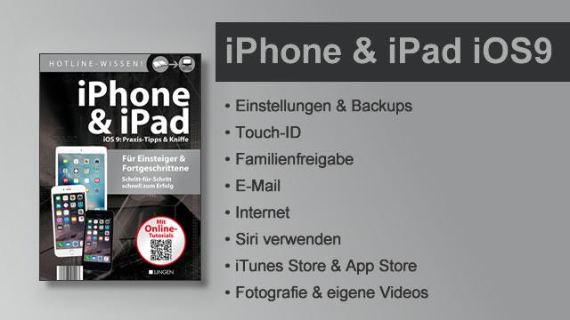 Buchvorstellung Hotline-Wissen iPhone & iPad mit iOS 9