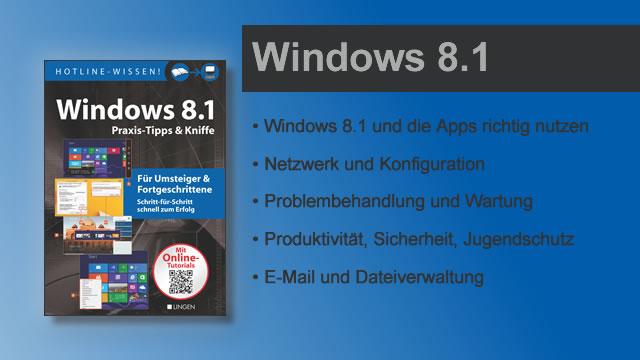 Buchvorstellung Hotline-Wissen Windows 8.1