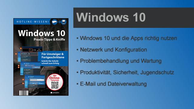 Buchvorstellung Hotline-Wissen Windows 10